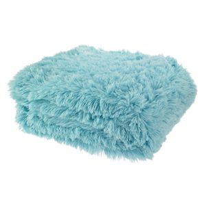 Catherine Lansfield Cuddly Throw - Duck Egg Blue