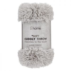 Catherine Lansfield Cuddly Throw - Silver