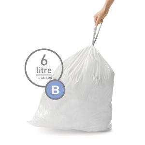 Simplehuman Sure Fit 'B' Bin Liner Rolls, 6 Litre - 30 Pack