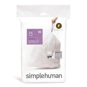 Simplehuman Sure Fit 'F' Bin Liner Rolls, 25-30 Litre - 20 Pack
