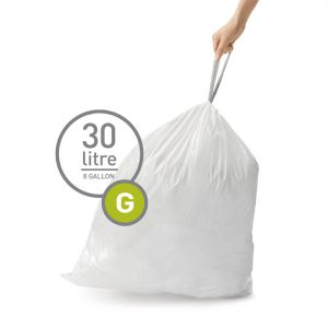 Simplehuman Sure Fit 'G' Bin Liner Rolls, 30 Litre - 20 Pack