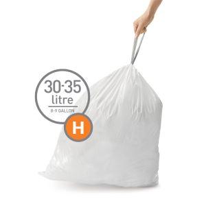 Simplehuman Sure Fit 'H' Bin Liner Rolls, 30/35 Litre - 20 Pack