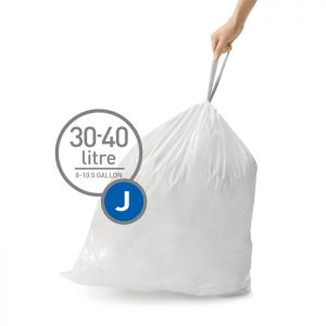 Simplehuman Sure Fit 'J' Bin Liner Rolls, 30-40 Litre - 20 Pack