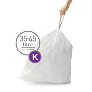 Simplehuman Sure Fit 'K' Bin Liner Rolls, 35-45 Litre - 20 Pack