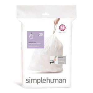 Simplehuman Sure Fit 'M' Bin Liner Rolls, 45 Litre - 20 Pack