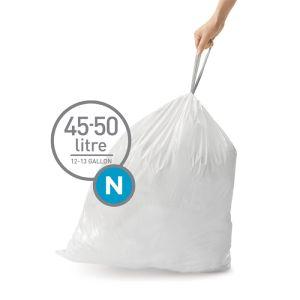 Simplehuman Sure Fit 'N' Bin Liner Rolls, 45-50 Litre - 20 Pack