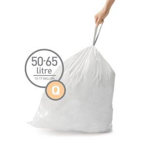 Simplehuman Sure Fit 'Q' Bin Liner Rolls, 50-65 Litre - 20 Pack