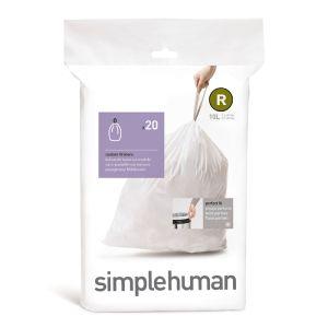 Simplehuman Sure Fit 'R' Bin Liner 10 Litre- 20 Pack