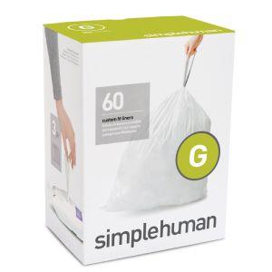Simplehuman Code G Custom Fit Bin Liners 30 Litres - 60 Pack