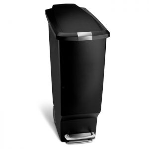 Simplehuman Slim Plastic Pedal Bin, 40 Litre - Black