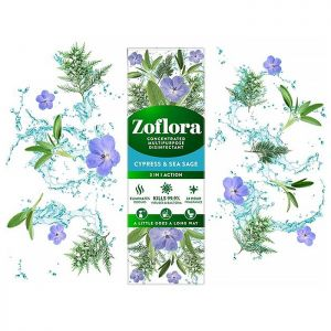 Zoflora Concentrated Disinfectant, 250ml – Cypress & Sea Sage