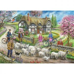 House Of Puzzles The Merridale Collection MC743 Daffodil Cottage Jigsaw Puzzle - 1000 Piece