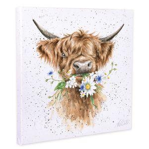 Wrendale Designs 'Daisy Coo' Canvas - 20cm