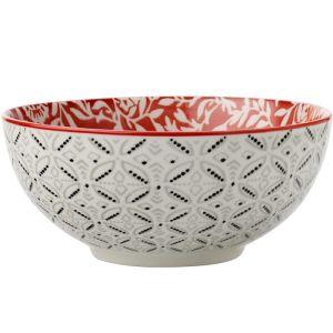 Maxwell & Williams Boho Bowl, 18cm - Damask Red
