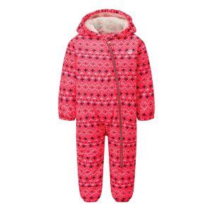 Dare 2b Children's Bambino II Waterproof Snowsuit – Neon Pink Alpine