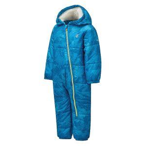 Dare 2b Children's Bambino II Waterproof Snowsuit – Petrol Blue Geo Camo