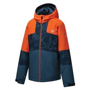 Dare 2b Children's Cavalier Waterproof Ski Jacket – Blaze Orange & Dark Denim