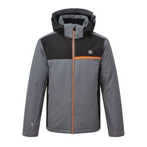 Dare 2b Children's Depend Waterproof Ski Jacket – Aluminium Grey & Black