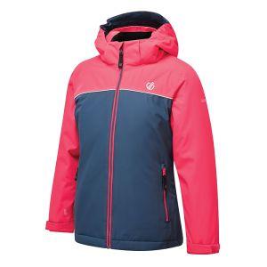 Dare 2b Children's Impose Waterproof Ski Jacket – Neon Pink & Dark Denim