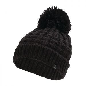 Dare 2b Women's Convoke Fleece Lined Knit Bobble Hat – Black