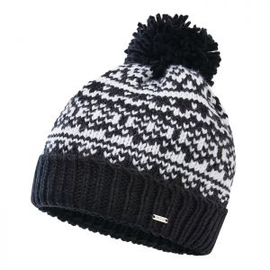Dare 2b Women's Headlines II Fleece Lined Knit Bobble Hat – Black & White