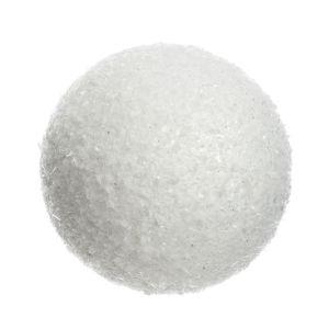 Decoris Glitter Ice Snowball Bauble, 14cm – White