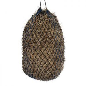 Shires Deluxe Haylage Net - Black/Blue, Small