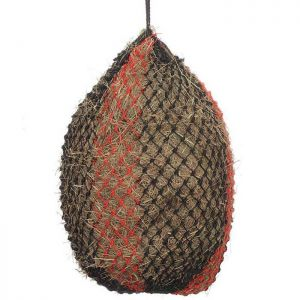Shires Deluxe Haylage Net - Black/Red, Large
