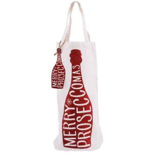 Merry Proseccomas Bottle Bag - Red