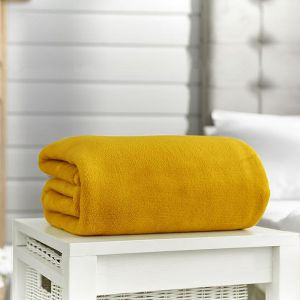 Deyongs Snuggle Touch Throw – Mustard