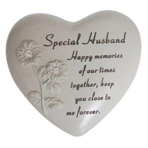 David Fischhoff Memorial Heart, Flowers- Special Husband