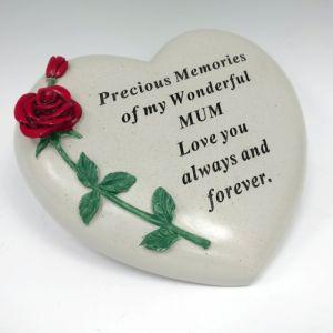 David Fischhoff Memorial Heart, Rose - Mum