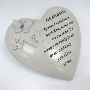 David Fischhoff Memorial Heart, Butterflies - Grandson