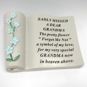 David Fischhoff Memorial Forget Me Not Scroll - Grandma
