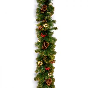 Premier Gold Dressed Garland – 1.8m