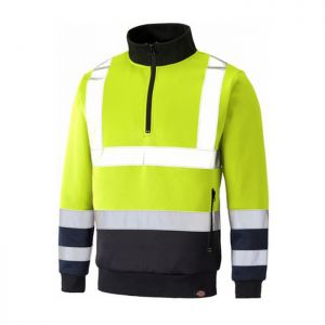 Dickies Two-Tone Hi-Vis Sweatshirt - Yellow