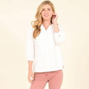 Brakeburn Women's Dobby Blouse - White