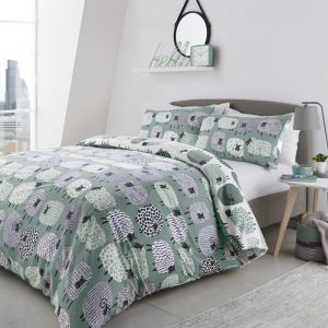 Curtina Dotty Sheep Duvet Set - Duck Egg