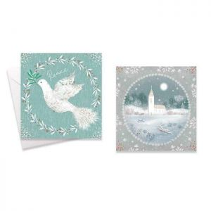 Dove & Church Christmas Cards - Pack of 10