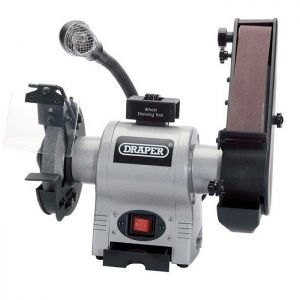 Draper 05096 Bench Belt Grinder with Work Light