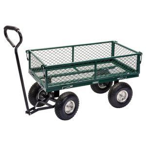 Draper Steel Mesh Gardeners Cart - Green