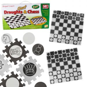 M.Y Outdoor Games 2-in-1 Giant Draughts & Chess