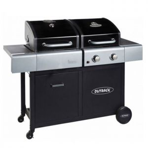 Outback Dual Fuel 2 Burner Gas and Charcoal Barbecue