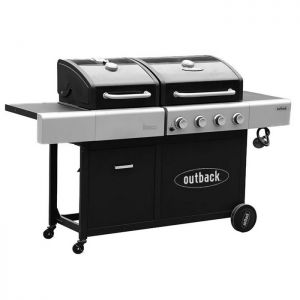 Outback Dual Fuel 4 Burner Gas and Charcoal Barbecue