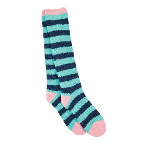 Dublin Cosy Socks - Mint/Navy Stripe