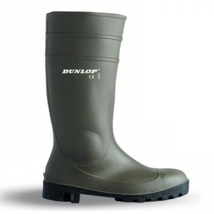 Dunlop Protomastor Full Safety Wellington Boots - Green