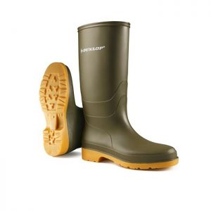 Dunlop 16247 Dull Children's Wellingtons - Green