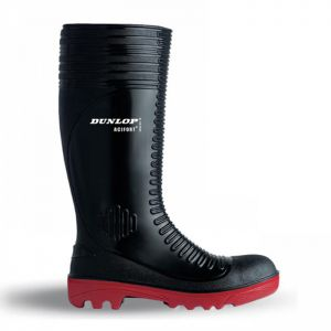 Dunlop Acifort Ribbed Full Safety Wellington Boots - Black