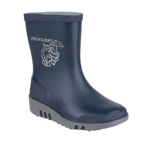 Dunlop Children's Mini Elephant Wellington Boots - Navy