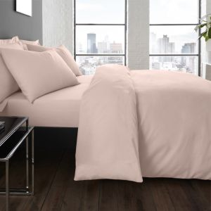 Serene Plain Dye Duvet Set, Blush